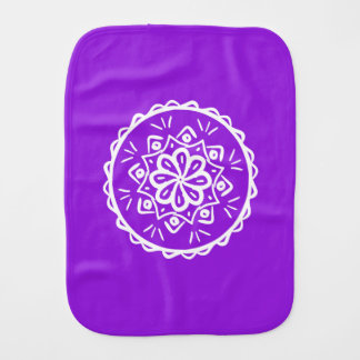 Amethyst Mandala Burp Cloth
