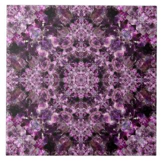 Amethyst Mandala Ceramic Tile