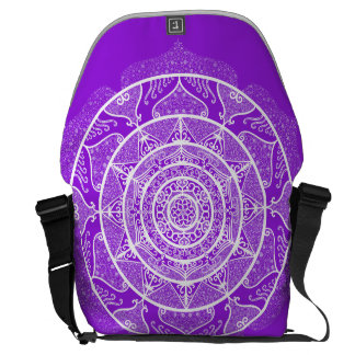Amethyst Mandala Courier Bag