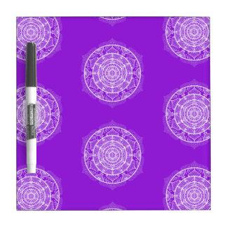 Amethyst Mandala Dry Erase Board