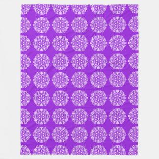 Amethyst Mandala Fleece Blanket