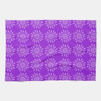 Amethyst Mandala Hand Towels
