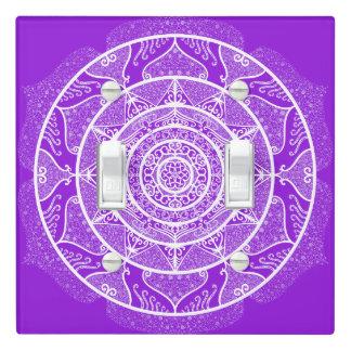Amethyst Mandala Light Switch Cover