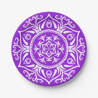 Amethyst Mandala Paper Plate