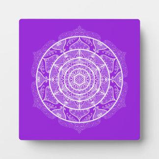 Amethyst Mandala Plaque