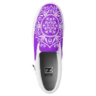 Amethyst Mandala Slip-On Sneakers