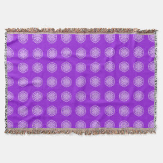 Amethyst Mandala Throw Blanket