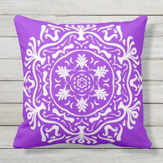Amethyst Mandala Throw Pillow