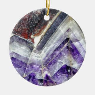 Amethyst Mountain Quartz Ceramic Ornament