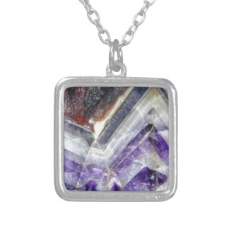 Amethyst Mountain Quartz Silver Plated Necklace