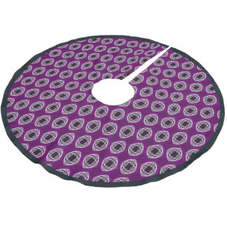 Amethyst Nouveau Checked Brushed Polyester Tree Skirt