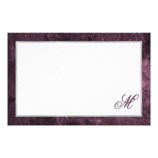 Amethyst Office | Monogram Sangria Royal Purple Stationery