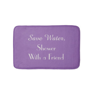 Amethyst Orchid Purple Save Water Funny Bath Mat