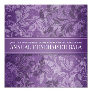 Amethyst Paisley Swirl Event Card