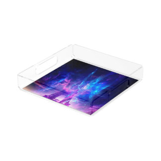 Amethyst Parisian Dreams Acrylic Tray
