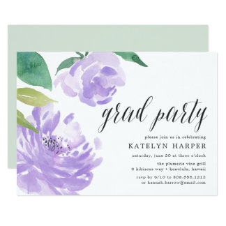 Amethyst Peony | Graduation Party Invitation