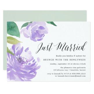 Amethyst Peony | Post Wedding Brunch Invitation