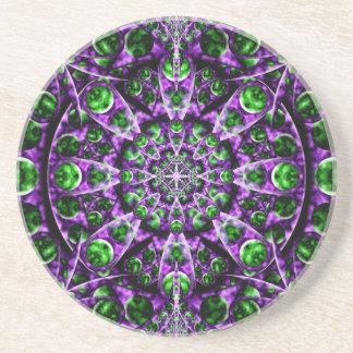Amethyst Portal Mandala Coasters