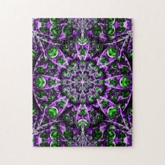 Amethyst Portal Mandala Jigsaw Puzzle