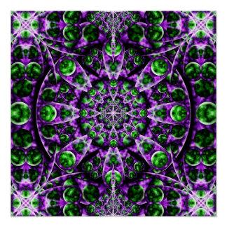 Amethyst Portal Mandala Perfect Poster