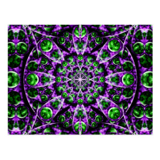 Amethyst Portal Mandala Postcard