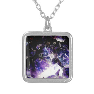 Amethyst Products By Bliss Travelers Silver Plated Necklace