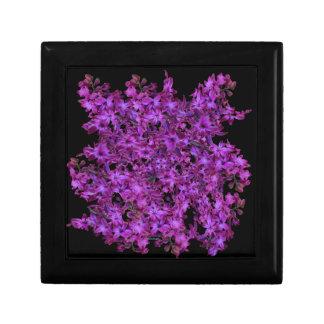 Amethyst Purple Abstract Hyacinth Black Floral Trinket Boxes