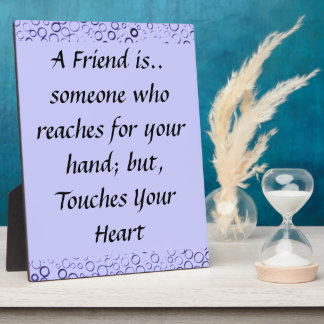 Amethyst Purple Bubbles Friendship Plaque