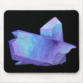 Amethyst purple crystal angel aura quartz geode mouse pad