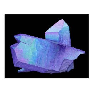 Amethyst purple crystal angel aura quartz geode postcard