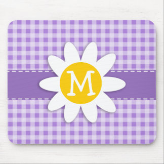 Amethyst Purple Gingham; Daisy Mouse Pads