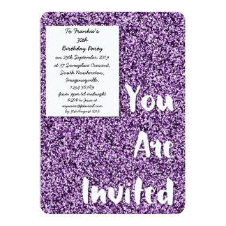Amethyst Purple Glitter Party Invitation