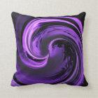 Amethyst Purple Island Wave Throw Pillow