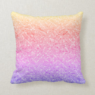 Amethyst Purple Pink Rose Ombre Rainbow Pastel Throw Pillow