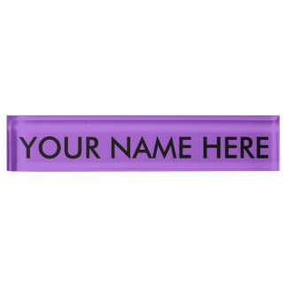 AMETHYST PURPLE (solid color) ~ Nameplate