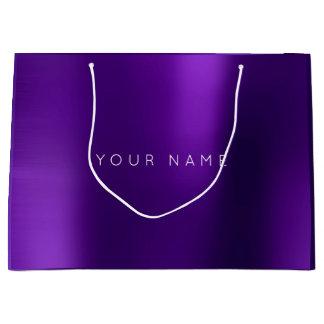 Amethyst Purple White Plum Minimal Favor Gift Star Large Gift Bag