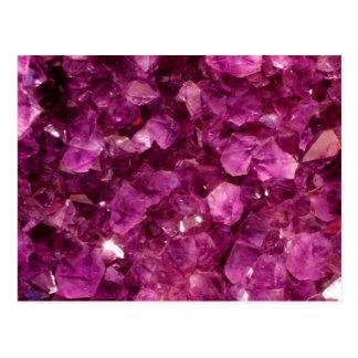 Amethyst Quartz Crystal Purple Precious Stones Postcard