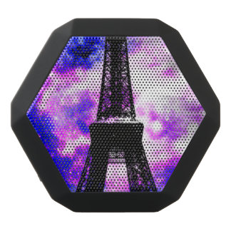 Amethyst Rose Parisian Dreams Black Bluetooth Speaker