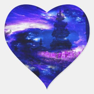 Amethyst Sapphire Bali Dreams Heart Sticker