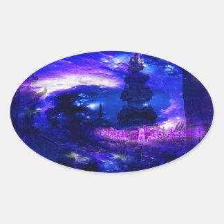 Amethyst Sapphire Bali Dreams Oval Sticker