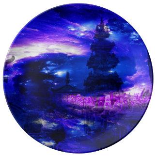 Amethyst Sapphire Bali Dreams Porcelain Plate