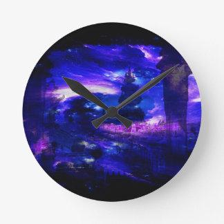 Amethyst Sapphire Bali Dreams Round Clock