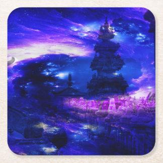 Amethyst Sapphire Bali Dreams Square Paper Coaster
