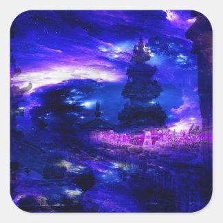 Amethyst Sapphire Bali Dreams Square Sticker