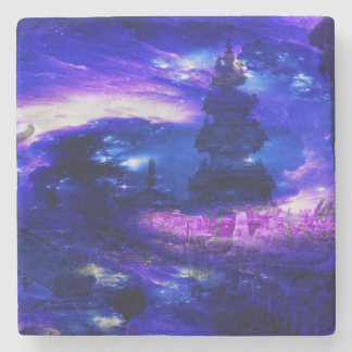 Amethyst Sapphire Bali Dreams Stone Beverage Coaster