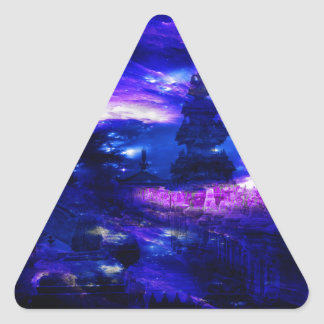 Amethyst Sapphire Bali Dreams Triangle Sticker