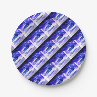 Amethyst Sapphire Budapest Dreams 7 Inch Paper Plate