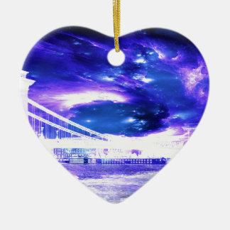Amethyst Sapphire Budapest Dreams Ceramic Heart Ornament