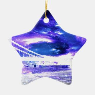 Amethyst Sapphire Budapest Dreams Ceramic Star Ornament