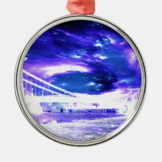 Amethyst Sapphire Budapest Dreams Metal Ornament